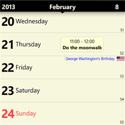 Chronos Calendar для Windows Phone