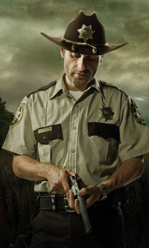 Обои для Windows Phone: Rick Grimes шериф