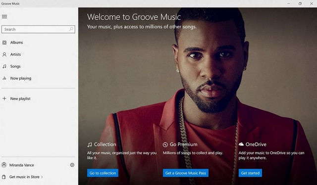 Groove музыка, фильмы и ТВ на Windows 10