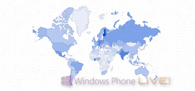 Визуализация интереса к Windows Phone в России и в мире