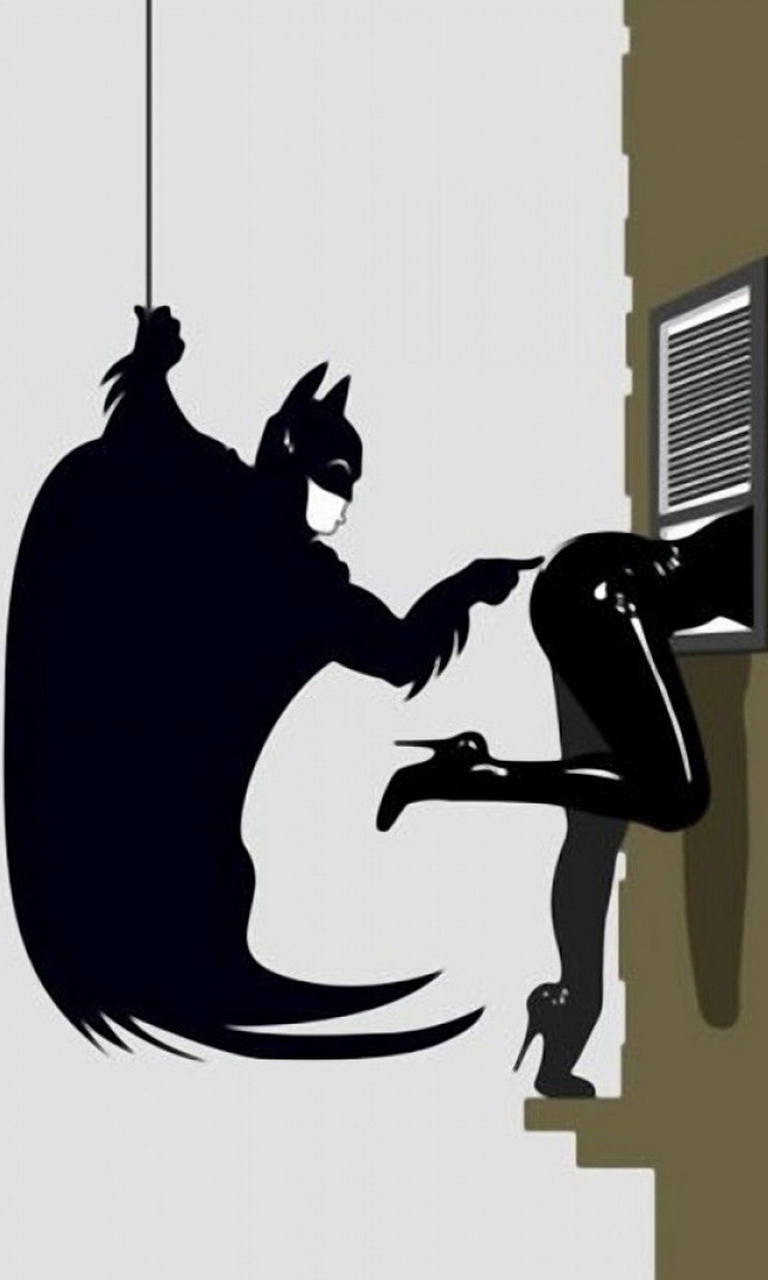 Обои для Windows Phone: Batman и Woman Cat