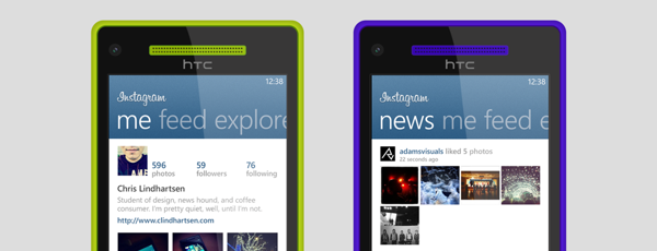 Концепт Instagram для Windows Phone