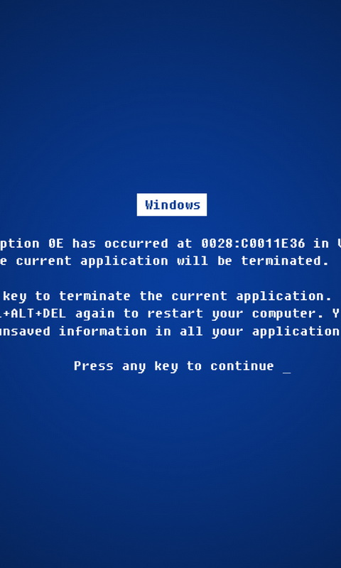 Обои для Windows Phone: BSoD