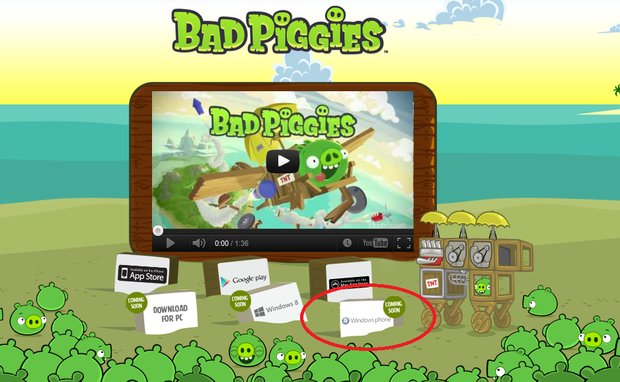 Rovio Bad Piggies грядут на Windows Phone!