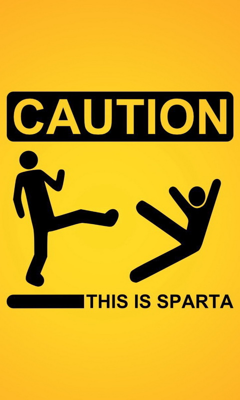 Обои для Windows Phone: Caution Sparta